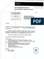 Respuesta Generalitat