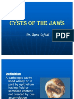 Lecture 7,Cysts of the Jaws 1 (Slide)