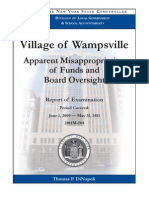 Village of Wampsville NYS audit