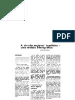 A divisão regional brasileira