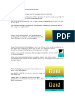Creating Reflective Gold Text With Photoshop