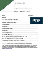 Gator f3b Entry Form 2013