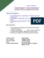 Asgn 1- Annual Reprt Demo