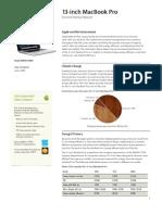 MacBook Pro 13 Inch Environmental Report