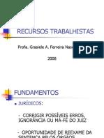 RECURSOSTRABALHISTAS-1ª parte - 2008