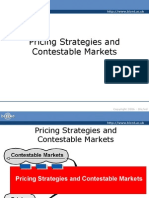 Pricing Strategies and Contestable Markets