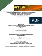 Fase de Evaluación Proyecto de Capacitación Docente en E Learning Universidad Beta Panamá Comunidad Web 2 0
