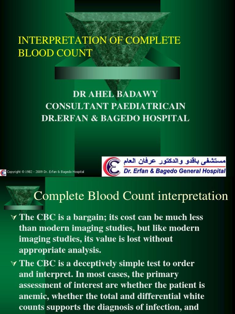 Interpretation of CBC   Anemia   Immunology