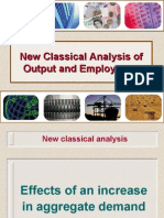 New Classical Analysis of Output, Prices and Employment