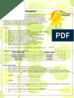 Chromatography of Chlorophyll Lab Pre-AP