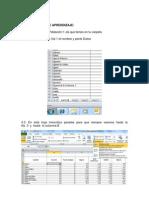 Excel Actividades Taller 2