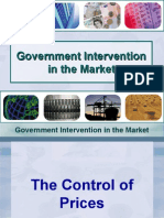 Supply and Demand and Government Intervention in the Market