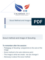 Presentation on Scout method and image of scouting