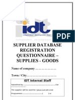 Questionnaire for Supplies - Goods (2)