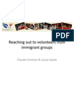 Presentation Volunteers From Immigrant Groups