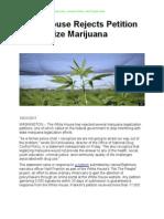 End Marijuana Prohibition - Save Lives, Lessen Crime, And Create Jobs