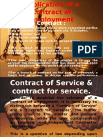 Implication of a Contract of Employment