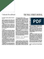 Unleash Broadband - 07.08.02 - by George Gilder and Bret Swanson