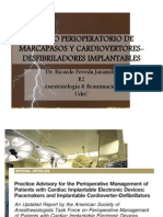 Manejo Perioperatorio de Marcapasos y Cardiovertores-Desfibriladores Implantables