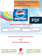 Summer Internship Report on Pepsico