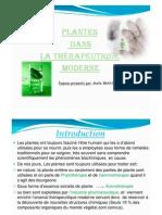 plantes dans la therapeutique moderne