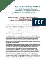 Safe Storage of Ammonium Nitrate