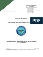 ELECTRONIC RELIABILITY DESIGN MILITARY HANDBOOK – MIL-HDBK-338B