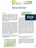 Newsletter - SEE Forum on Climate Change Adaptation