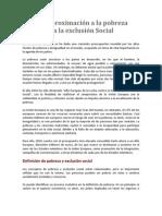 Una aproximación a la pobreza y a la exclusion social