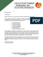 Nov. 2011 - Letter to Parents