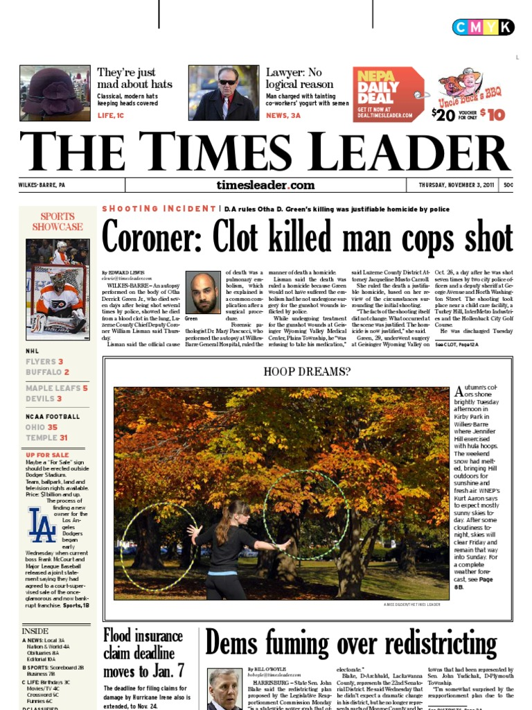 Times Leader 11-03-2011 | Theft | Wilkes Barre
