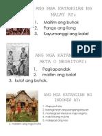 Ang Mga Katangian Ng Malay Ay