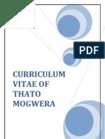 Curriculum Vitae of Thato Mogwera