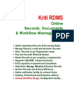 Kriti RDMS Online Records,Documents & workflow Management software