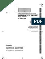 Manual de instalación Doméstico unidad interior pared Daikin Emura FTXG-J_CTXG-J