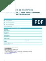 Ficha de Inscripcion Ingles