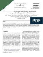 Enhanced Electro-catalytic Degradation of Chloroorganic