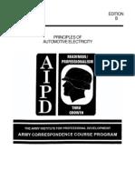 PRINCIPLES OF AUTOMOTIVE ELECTRICITY – ARMY CORRESPONDENCE COURSE PROGRAM – SUBCOURSE OD611