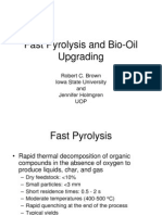Fast Pyrolysis and Bio Oil Upgrading Presentation)