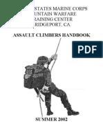 ASSAULT CLIMBERS HANDBOOK 2002 – US MARINE CORPS MOUNTAIN WARFARE TRAINING CENTER