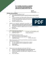 CIVIL AVIATION REQUIREMENTS SEMESTER EXAMINATION DEC'04
