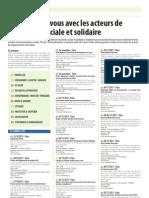Programme francilien du Mois de l'ESS 2011