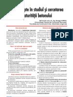29534963 Noi Concepte in Studiul Si Cercetarea Maturitatii Betonului