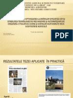 Cercetări privind optimizarea lucrărilor specifice cât şi stabili