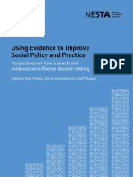 Using Evidence to Improve Social Policy Practice