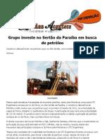 Grupo investe no Sertão da Paraíba em busca de petróleo