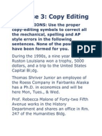 Copy Reading Exercise