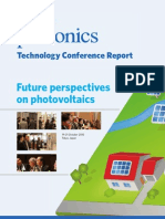 Future Perspectives on Photovoltaics 2010 - Conference Report
