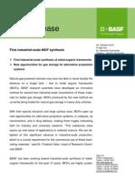 BASF Press Release MOFs