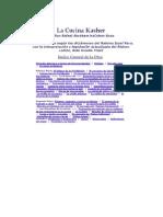 Cocina Kasher Libro 01